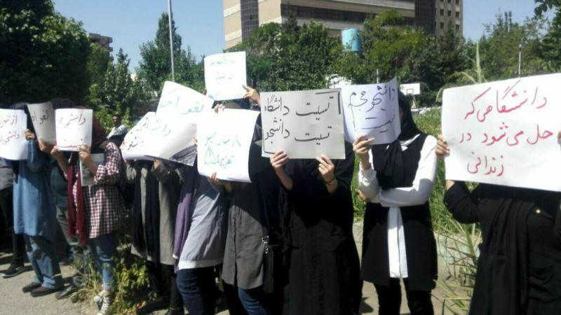 گروهی از دانشجویان در اعتراض به احکام زندان برای دانشجویان معترض در امتحانات شرکت نکردند