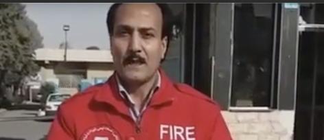 تحصن زرتشت احمدی راغب در اعتراض به اخراج از کار آتش نشانی – ۲۹دی ۹۷