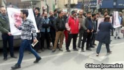 یکی از تجمعهای دروایش گنابادی در خیابان پاسداران تهران در بهمن پارسال.